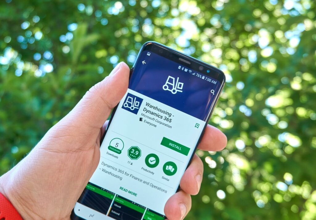 mobile app - Microsoft Dynamics 365